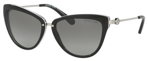 Michael Kors MK6039 ABELA II Black/White w/ Grey Gradient Lenses