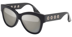 McQ MQ0021S Black with Silver Mirror Lenses