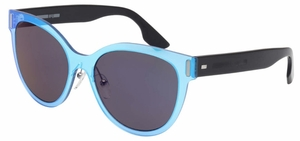 McQ MQ0023S Blue/Black with Blue Mirror Lenses