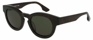 McQ MQ0047S Havana with Green Lenses