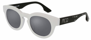 McQ MQ0047S White/Black with Silver Mirror Lenses
