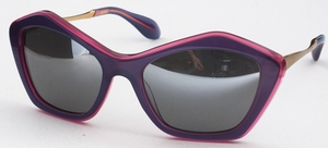 Miu Miu MU 02OS Purple with Mirrored Grey Lenses