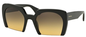 Miu Miu MU 06QS Black w/ Yellow Gradient Grey Lenses