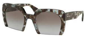 Miu Miu MU 06QS Lilac Havana w/ Lilac Gradient Light Grey Lenses