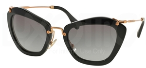 Miu Miu MU 10NS NOIR Black w/ Grey Gradient Lenses