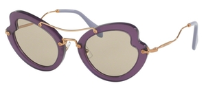 Miu Miu MU 11RS Violet with Light Brown Lenses