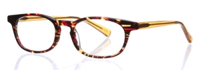 Eyebobs On Board Reader 78 - Red Tortoise Front and Orange Crystal Temples
