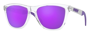 Oakley OO9428 Frogskins Mix Polished Clear / violet iridium polar