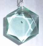 Casa Crystals & Jewelry Pendant, Hexagon Green Obsidian Crystals