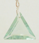 Casa Crystals & Jewelry Pendant, Triangle Green Obsidian, Faceted Crystals