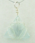 Casa Crystals & Jewelry Pendant, Triangle, Flower Cut Crystals