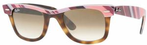 Ray Ban Wayfarer RB2143 Top Text STR. Pink. Vio. on Hav Crystal Brown