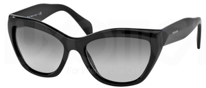 Prada PR 02QS POEME Black w/ Grey Gradient Lenses