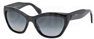 Prada PR 02QS POEME Black w/ Polar Grey Gradient Lenses