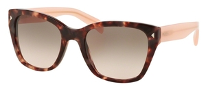Prada PR 09SS Spotted Brown Pink with Pink Gradient Grey Lenses