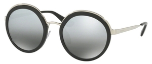 Prada PR 50TS Black with Grey Mirror Silver Gradient Lenses