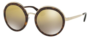 Prada PR 50TS Tortoise with Light Brown Mirror Gold Gradient Lenses