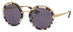 Prada PR 50TS White Havana with Violet Lenses