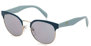 Prada PR 61TS GREEN/PALE GOLD with Grey Lenses