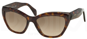 Prada PR 02QS POEME Havana w/ Light Brown Grad. Light Grey Lenses