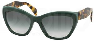 Prada PR 02QS POEME Opal Green/Green w/ Green Gradient Lenses