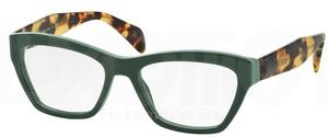 Prada PR 14QV JOURNAL Opal Green/Green  TFO1O1