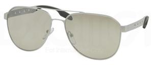 Prada PR 51RS Alluminium w/ Light Grey Mirror Silver Lenses