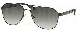 Prada PR 51RS Matte Black w/ Grey Gradient Lenses