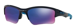 Oakley Quarter Jacket OO9200 04 Polished Navy with +Red Iridium Lenses