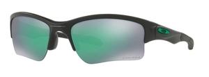 Oakley Quarter Jacket OO9200 24 Matte Black with Prizm Jade Lenses