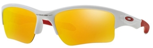 Oakley Quarter Jacket OO9200 Polished White with Fire Iridium Lenses