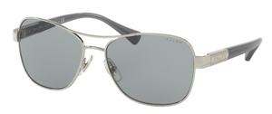 Ralph RA4119 Silver/ Blue Horn w/ Grey Blue Solid Lenses