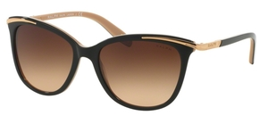 Ralph RA5203 Black Nude with Brown Gradient Lenses