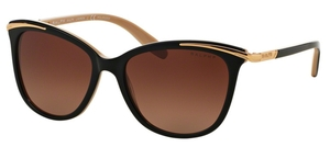 Ralph RA5203 Black Nude with Brown Gradient Polarized Lenses