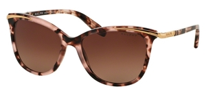 Ralph RA5203 Pink Tortoise with Brown Gradient Polarized Lenses