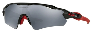 Oakley Radar EV Path (Asian Fit) OO9275 06 Polished Black with Polarized Black Iridium