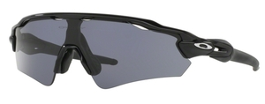 Oakley Radar EV Path (Asian Fit) OO9275 10 Polished Black with Grey