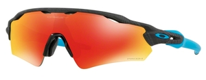Oakley Radar EV Path (Asian Fit) OO9275 21 Aero Grid Grey with Prizm Ruby