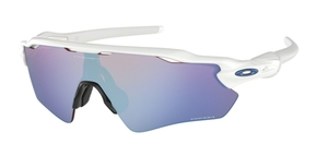 Oakley RADAR EV PATH OO9208 47 Polished White / Prizm Sapphire Snow