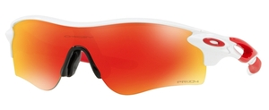 Oakley RADARLOCK PATH (Asian Fit) OO9206 46 Polished White with Prizm Ruby Lenses