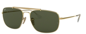Ray Ban RB3560 The Colonel Gold w/crystal green lenses