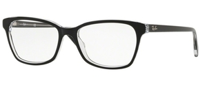 Ray Ban Glasses RX5362 Top Black on Transparent