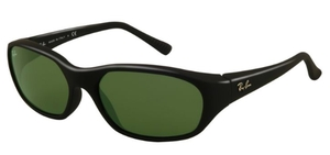 Ray Ban RB2016 Daddy-O Matte Black with Crystal Green Lenses