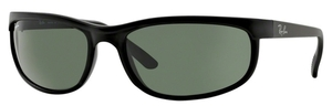 Ray Ban RB2027 (Predator 2) Black/Matte Black with Crystal Green Lenses
