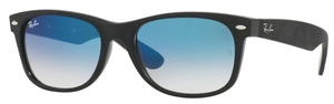 Ray Ban RB2132 New Wayfarer Black/Top Black Alcantara with Crystal Blue Gradient Lenses