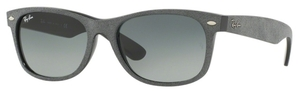 Ray Ban RB2132 New Wayfarer Black/Top Grey Alcantara with Crystal Grey Gradient Lenses