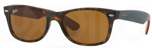 Ray Ban RB2132 New Wayfarer Matte Havana w/ Brown Lenses 6179
