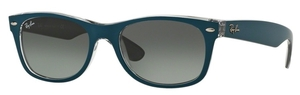 Ray Ban RB2132 New Wayfarer Top Matte Petroleum on Grey with Light Grey Gradient Lenses