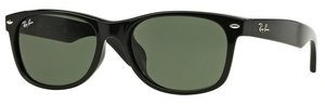 Ray Ban RB2132F Black with Polarized Crystal Green Lenses