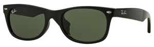 Ray Ban RB2132F Black with Crystal Green Lenses
